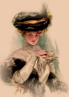 Victorian tea.  Anyone interested in starting a Ladies Tea?