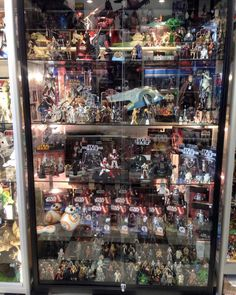 Awesome Star Wars Display At Lobos Collectables · Toy DisplayDisplay  CasesDisplay ...