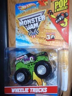 Grave Digger Wheelie Trucks Gravedigger Monster Jam Hotwheels Pop a Wheelie Hot Wheels 1:64 by Hotwheels ; Matel. $12.99. Wheelie truck. Roll truck and it will pop a wheelie.. Hot Wheels Flip Crashers