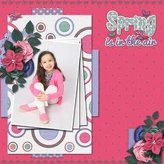 4/26/14 Gotta Pixel Digital Scrapbook LOTD: Today's Layout of the Day is Spring is in the Air by Jonyce. www.gottapixel.net./