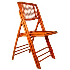 Orange Bamboo Folding Chair - CHAIRS - FURNITURE