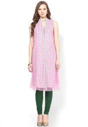 Sangria Pink Printed Kurta Online Shopping Store