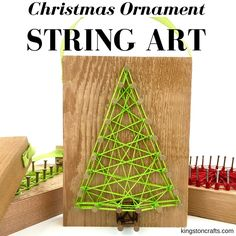 Reclaimed Christmas String Art Ornaments - and FREE printable pattern — Kingston Crafts