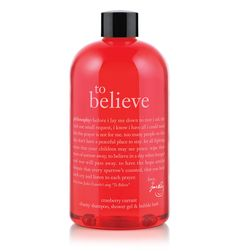 To Believe - cranberry currant charity shampoo, shower gel & bubble bath - 100% of proceeds benefit WhyHunger
