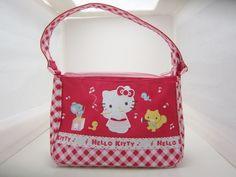 Hello Kitty Sanrio Licensed Purse Pink Gingham Zip Closure  #hellokitty #purse #gingham
