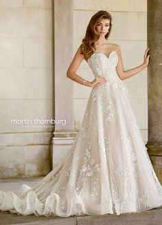 d07d04db23 Whimsical Strapless Sweetheart Lace Wedding Gown - 118281 Coda