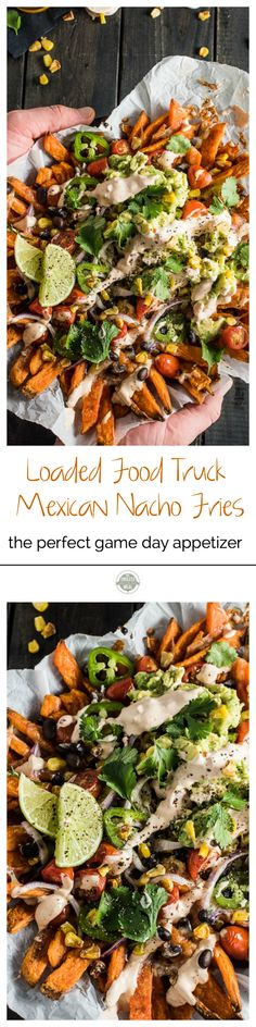 Mexican Nacho Fries, you ask? That's right! These babies are everything food truck dreams are made of. Add this recipe to your must-make Super Bowl/ game day party list; your friends will love you for it. | theendlessmeal.com | #superbowl #superbowlrecipes #gamedayrecipes #fries #nachofries #appetizers #partyfood