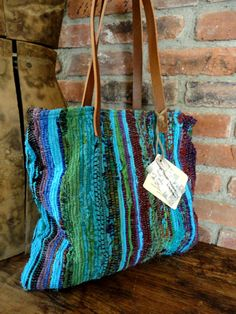 INDIAN Vintage RAG RUG Tote Bag Purse by TnBCdesigns on Etsy