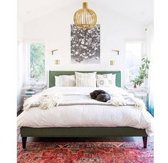 Charming bedroom with oriental influences
