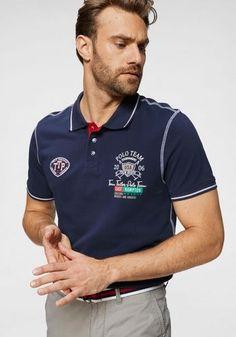 TOM TAILOR Polo Team Poloshirt mit Frontprint | OTTO Polo Rugby Shirt, Polo Team, Toms, Tom Tailor, Polo Ralph Lauren, John Devin, Mens Tops, Pique, Nice Shirts