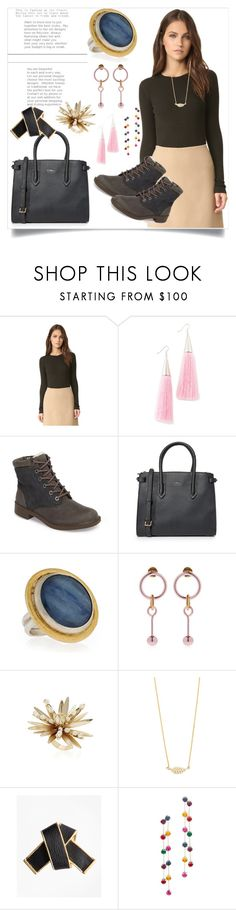"""Winter fashion"" by denisee-denisee ❤ liked on Polyvore featuring Eddie Borgo, Furla, Gurhan, Rosantica, Jennifer Meyer Jewelry, Brooks Brothers and Kenneth Jay Lane"