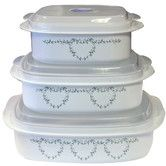 Found it at Wayfair - Coordinates Microwave Cookware and Storage Set with Country Cottage Design