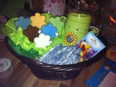 A fundraiser Scentsy basket. They make great gifts and I'd love to make one for you too! Contact me for details www.jensponton.scentsy.us