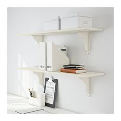 EKBY HEMNES / EKBY HENSVIK Półka ścienna - biały - IKEA