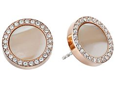 Fossil Shimmer Horn Studs Rose Gold - Zappos.com Free Shipping BOTH Ways