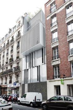 sur l vation rue delbet par l 39 agence hardel et lebihan toit toi mon toit pinterest. Black Bedroom Furniture Sets. Home Design Ideas