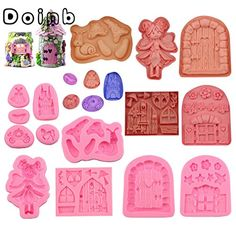 Doinb Castle Coach Dress Glass Slipper Horse Angel girls Fairy doors Window flowers Snail Cake Pastry Fondant Moulds -- Check out this great product. (This is an affiliate link) Diy Fairy Door, Fairy Doors, Snail Cake, Shoe Molding, Fondant Molds, Cake Moulds, Cake Decorating Supplies, Baking Supplies, Vintage Fairies