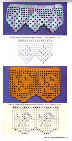 Luci Artes: Barrados em Crochê com Gráficos                                                                                                                                                     Mais