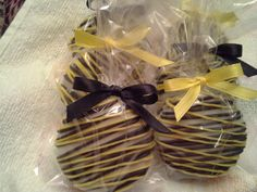 Batman Chocolate Covered Oreos Cookies Birthday Party Favors Black And Yellow Wedding Favors Bumble Bee Party Favors. $17.00, via Etsy.