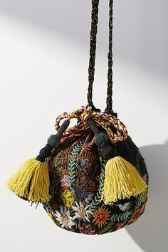 Discover unique bags, clutches & travel accessories at Anthropologie, including the season's newest arrivals. Leotard Fashion, South Shore Decorating, Potli Bags, Diy Couture, Handmade Purses, Beaded Bags, Plastic Beads, Casual Bags, Small Bags