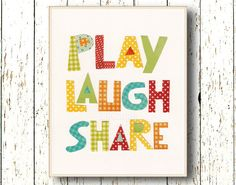 Nursery and playroom wall art from Lil Chipie