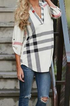 Pretty Little Things Plaid Top. Arrive to your next meeting in style with this must have Pretty Little Things Plaid top! Full of class and comfort you'll want to wear it on the weekends too! L