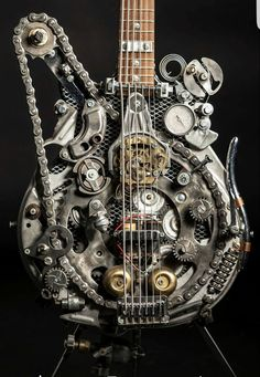 Steampunk Tendencies | Steampunk Guitars by Andy Corporon Check out..