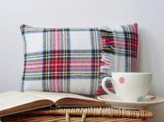 Scottish Tartan boudoir pillow cushion. £14.00, via Etsy.