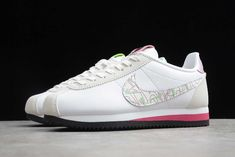 """2020 Nike Wmns Classic Cortez SE """"Valentine's Day"""" Nike Classic Cortez, Nike Cortez, White Leather, Pink And Green, Running Shoes, Sneakers Nike, Valentines, Day, Mini"""