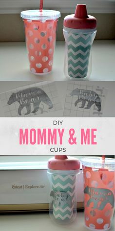 DIY Mommy & Me Cups | Tastefully Frugal