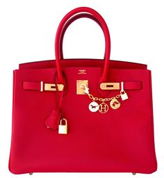 2217a277508  Hermes Birkin  Bag Rouge Casaque Epsom Gold Hardware Birkin Purse