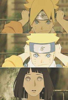 Boruto reminds Hinata of his father, Naruto Naruto Uzumaki, Anime Naruto, Himawari Boruto, Naruto Comic, Naruto Sasuke Sakura, Naruto Cute, Naruhina, Uzumaki Family, Naruto Family