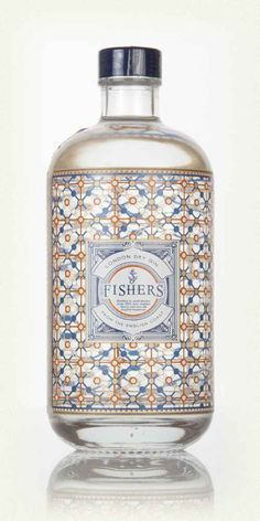 Purchase this Fishers London Dry Gin online. Get the perfect bottle for Gin lovers delivered right to your door. Bottle Packaging, Brand Packaging, Packaging Design, Alcohol Bottles, Liquor Bottles, Vodka, Le Gin, Beste Cocktails, Gins Of The World