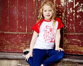 girls personalised letter tshirt by kasiabear