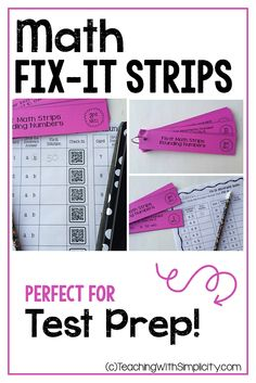 Fix-It Strips are fun and engaging for students! Each Fix-It Strip contains a statement and two answers. Instead of finding the correct answer, students look for the incorrect answer then fix it.