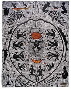 Goba (state II) - Dennis Nona - Linocut - Hand coloured - DN016 - Aboriginal and Torres Strait Islander Art Prints