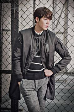 With CF deals with Merrell, Giordano, SIEG FAHRENHEIT, and SIEG, Kim Woo Bin probably has enough clothes in his closet that he doesn't have to repeat an outfit throughout the entire fall and … Kim Woo Bin, Dramas, Korean Drama Stars, Walpaper Black, Man Crush Everyday, Handsome Actors, Men Handsome, Bae Suzy, Lee Jong Suk