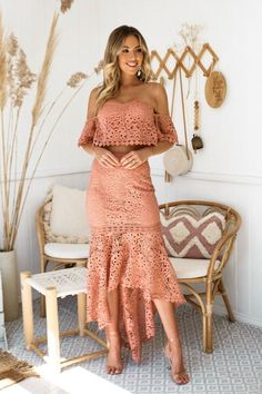 Nouveau Riche Boutique · Bridesmaid Dresses · Amazing Lace Top   Skirt Set  Perfect for your special event! Celine Lace Set - b11414632