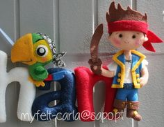 Felt Name Banner - Felt Doll - Name Banner - Pirate - Jake and the Never Land Pirates - Baby Boy Gift - First Name - Felt Wall Decor - Stuff