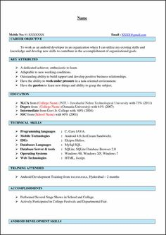android developer if you have experience in application development and you want to get a job from your experience you can make android developer resume