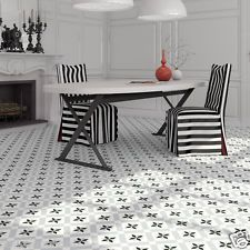 CHELSEA V & E VICTORIAN ENCAUSTIC EFFECT CERAMIC WALL FLOOR TILES  RRP £74.95m2