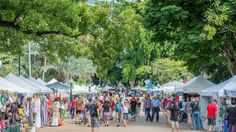 The Riverside Markets have moved to the beautiful surrounds of the City Botanic Gardens.