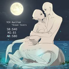 [CLOSED] YCH auction: Ocean Lovers by Toriichi