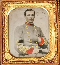 Civil War Ambrotype of Alonzo Whitridge, Confederate Soldier.