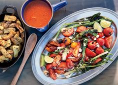 Grilled Tomato and Scallions   Vegetarian Grilling