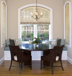 Christine Sheldon Design, kitchen dining area with banquette seating, Hillsborough