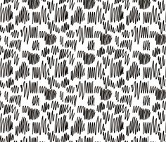 Scribblings and doodles fun abstract ink lines Scandinavian style black and white - fabric and wallpaper design by Little Smilemakers Studio at Spoonflower