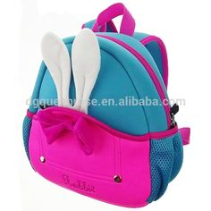 Source cute baby pink rabbit animal neoprene backpack with breathable back on m.alibaba.com
