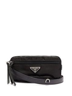 ca489762d42 Prada Nylon and leather belt bag Leather Belt Bag, Prada, Gucci, Bags,