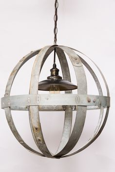 Globe Chandelier - Wine Barrel Furniture